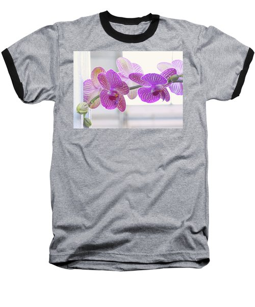 Orchid Spray Baseball T-Shirt
