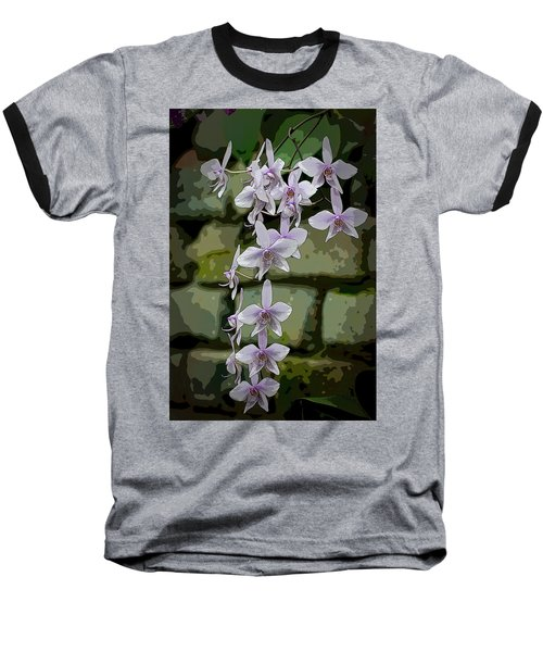 Orchid Waterfall Baseball T-Shirt