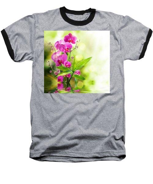 Orchidaceae Baseball T-Shirt by Thomas M Pikolin