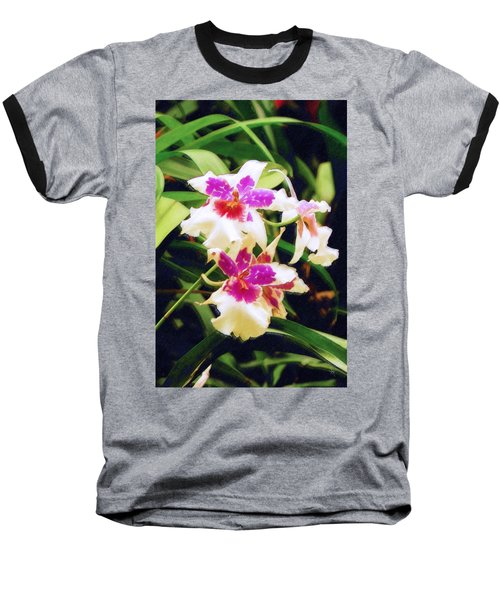 Baseball T-Shirt featuring the painting Orchids 1 by Sandy MacGowan