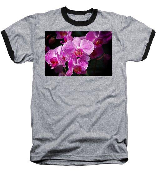 Orchids 4 Baseball T-Shirt by Karen McKenzie McAdoo