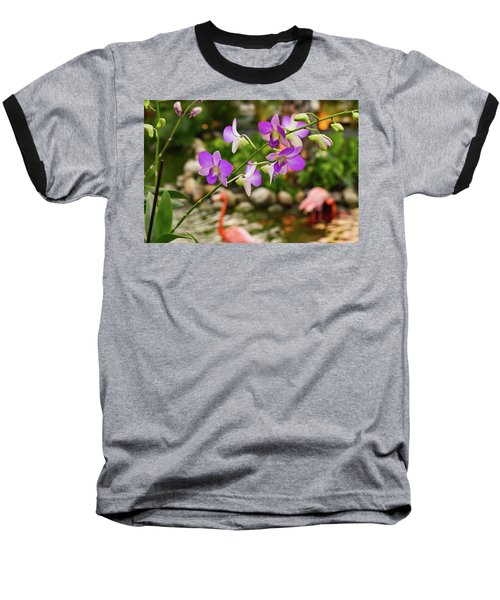 Orchids In Paradise Baseball T-Shirt