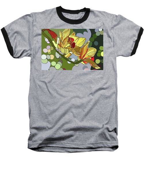 Orchids In Sunlight Baseball T-Shirt by Jamie Downs