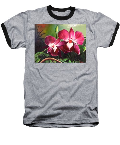 Orchids In The Night Baseball T-Shirt