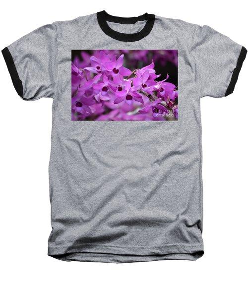 Orchids Paint Baseball T-Shirt
