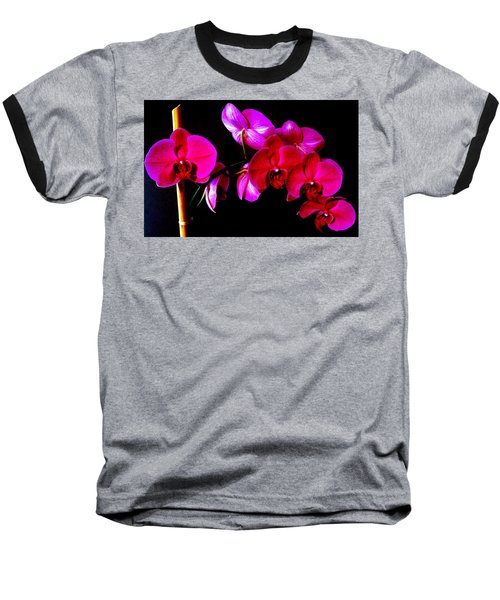 Orchids Baseball T-Shirt by Ron Davidson