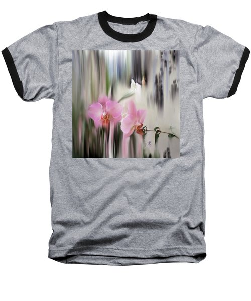 Orchids With Dragonflies Baseball T-Shirt