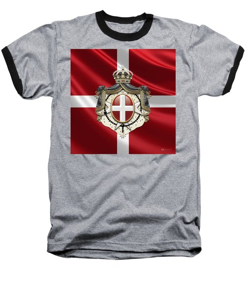Order Of Malta Coat Of Arms Over Flag Baseball T-Shirt