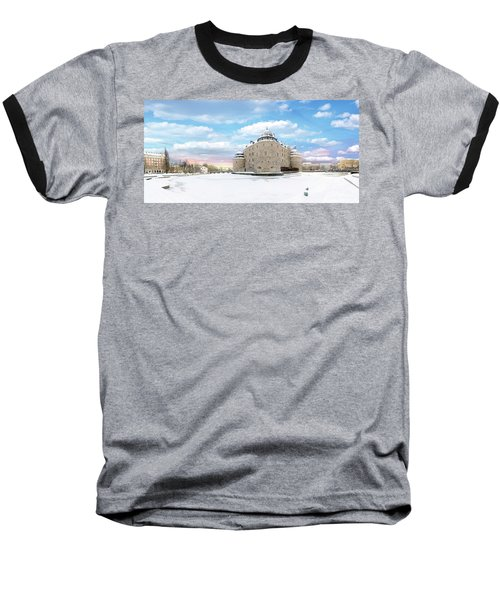 Orebro Castle Baseball T-Shirt by Marius Sipa