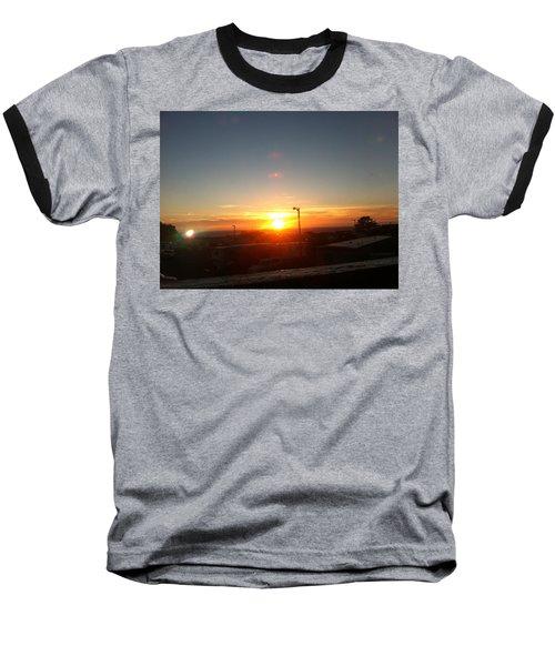 Oregon Blazing Sunset Baseball T-Shirt