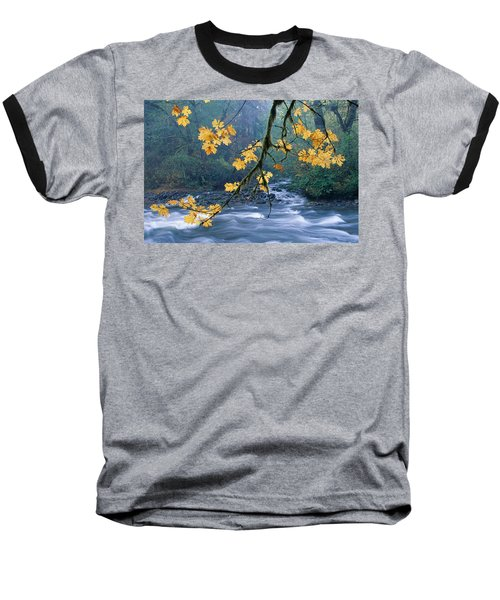 Oregon, Cascade Mountain Baseball T-Shirt