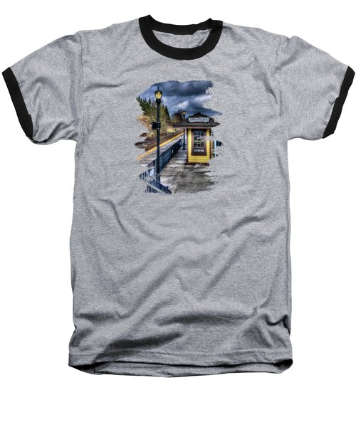 Oregon City Train Depot Baseball T-Shirt by Thom Zehrfeld