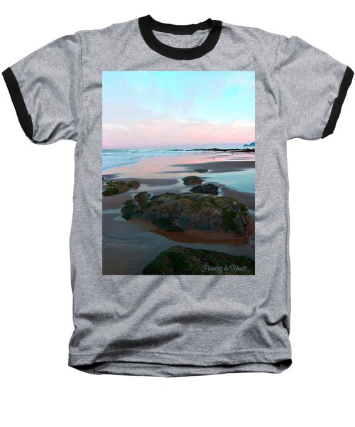 Oregon Coast 2 Baseball T-Shirt