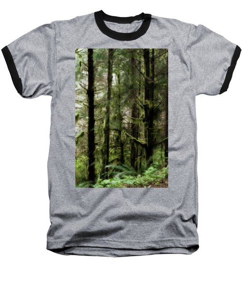Oregon Old Growth Coastal Forest Baseball T-Shirt