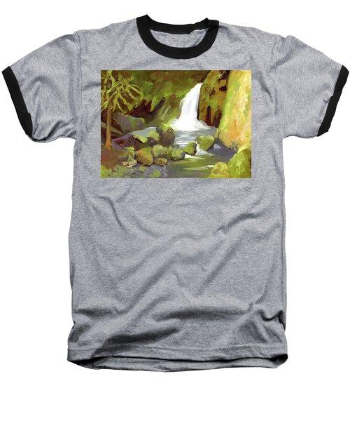 Oregon Waterfall Baseball T-Shirt