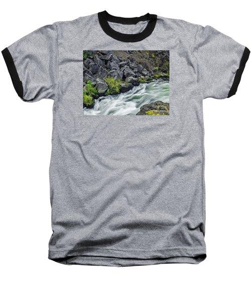 Baseball T-Shirt featuring the photograph Oregon's Dillon Falls by Nancy Marie Ricketts