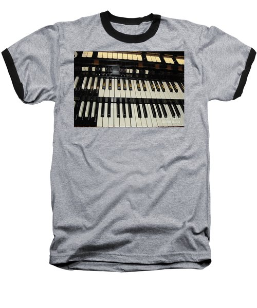 Hammond Organ Keys Baseball T-Shirt