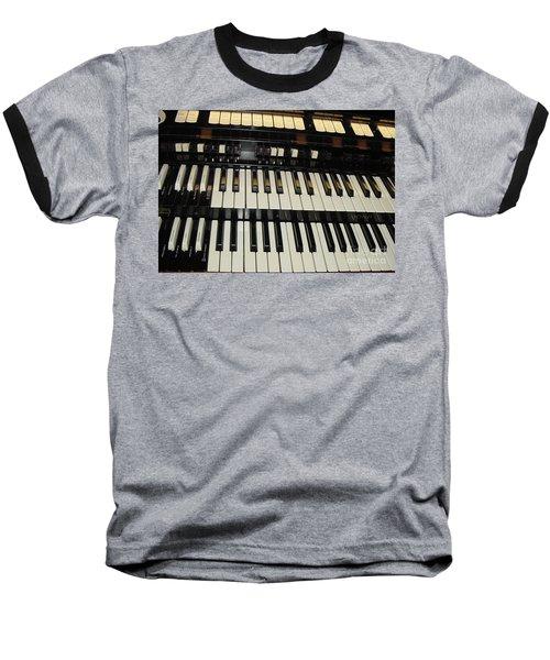 Hammond Organ Keys Baseball T-Shirt