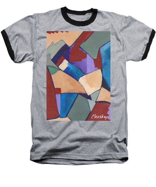 Organic Abstract Series II Baseball T-Shirt by Patricia Cleasby