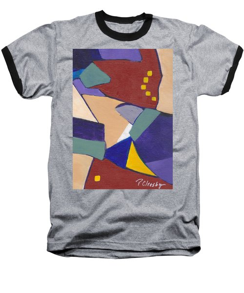 Organic Abstract Series IIi Baseball T-Shirt by Patricia Cleasby