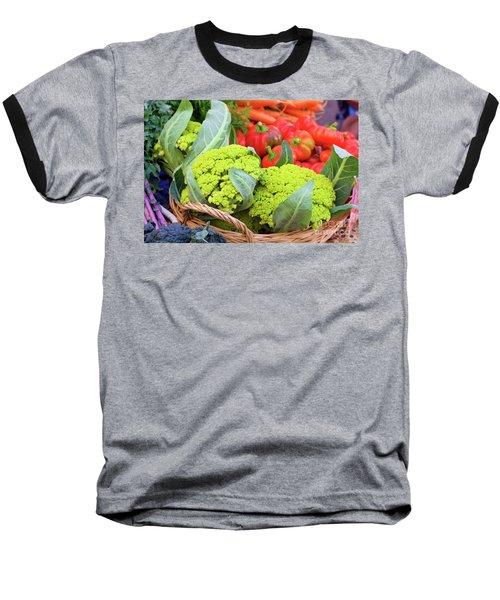 Organic Green Cauliflower At The Farmer's Market Baseball T-Shirt