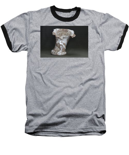 Organic Marbled Clay Ceramic Vase Baseball T-Shirt by Suzanne Gaff