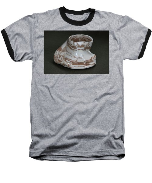 Organic Marbled Clay Ceramic Vessel Baseball T-Shirt by Suzanne Gaff