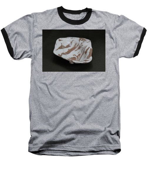 Organic Oval Marbled Ceramic Dish Baseball T-Shirt by Suzanne Gaff