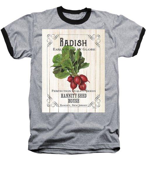 Organic Seed Packet 3 Baseball T-Shirt by Debbie DeWitt