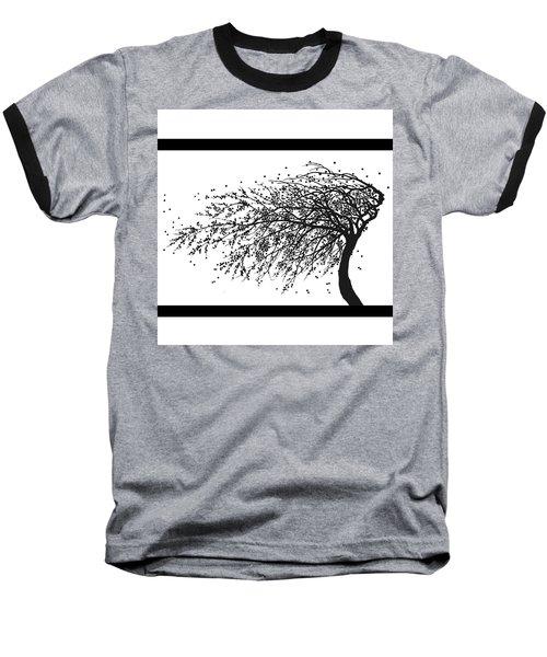 Oriental Foliage Baseball T-Shirt by Gina Dsgn