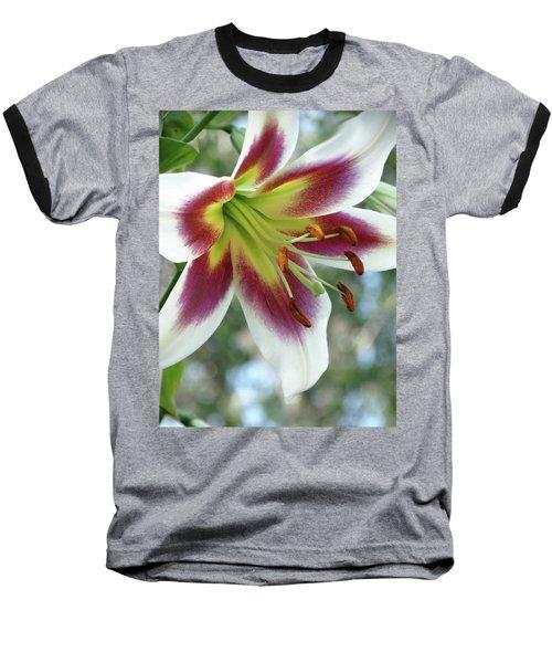 Oriental Lily In Summer Sunset Baseball T-Shirt
