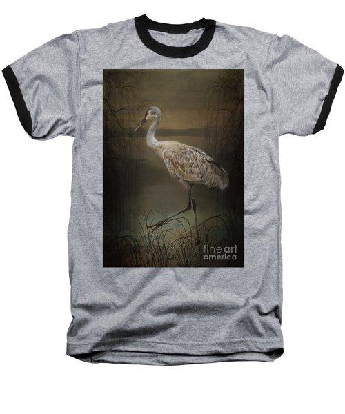 Oriental Sandhill Crane Baseball T-Shirt
