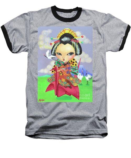 Origami Girl Baseball T-Shirt