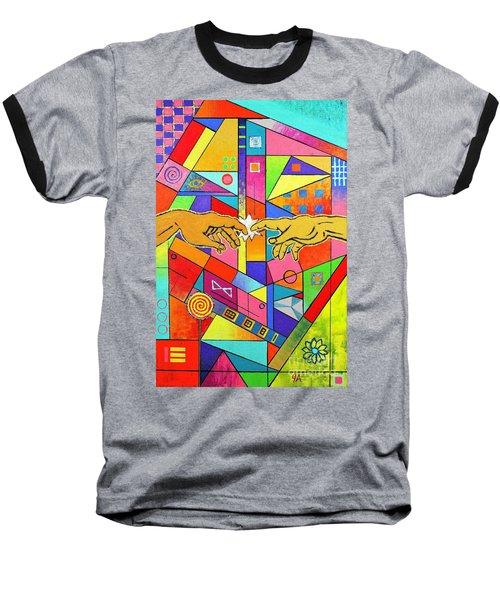 Origin Of Man Baseball T-Shirt by Jeremy Aiyadurai