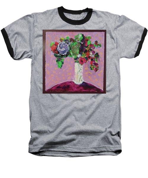 Original Bouquetaday Floral Painting 12x12 On Canvas, By Elaine Elliott, 59.00 Incl. Shipping Baseball T-Shirt by Elaine Elliott