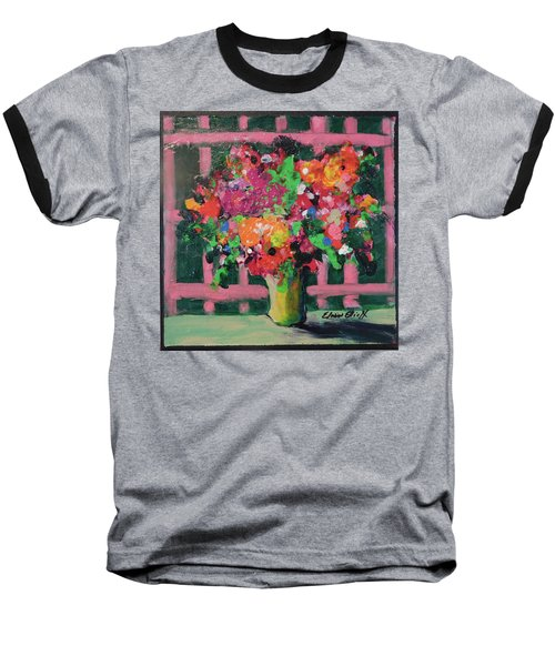 Original Bouquetaday Floral Painting By Elaine Elliott 59.00 Incl Shipping 12x12 On Canvas Baseball T-Shirt