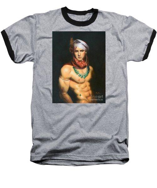 Original Classic Oil Painting Man Body Art-male Nude -068 Baseball T-Shirt