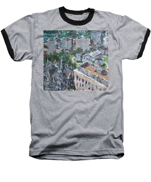 Original Contemporary Cityscape Painting Featuring Virginia State Capitol Building Baseball T-Shirt
