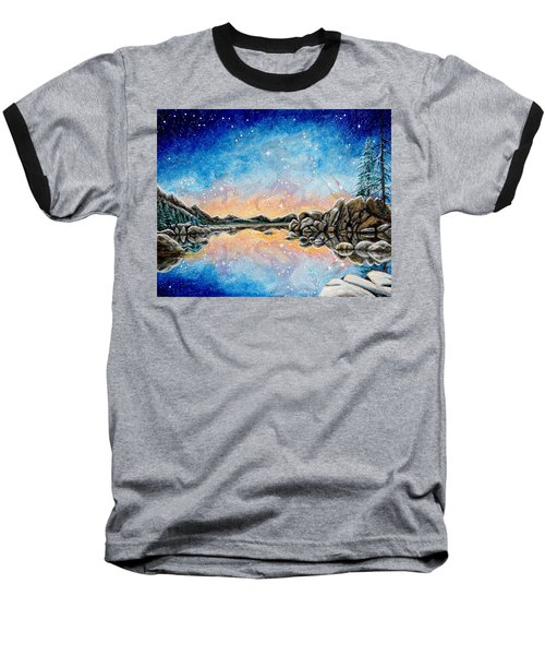Orion Over Tahoe Winter Baseball T-Shirt
