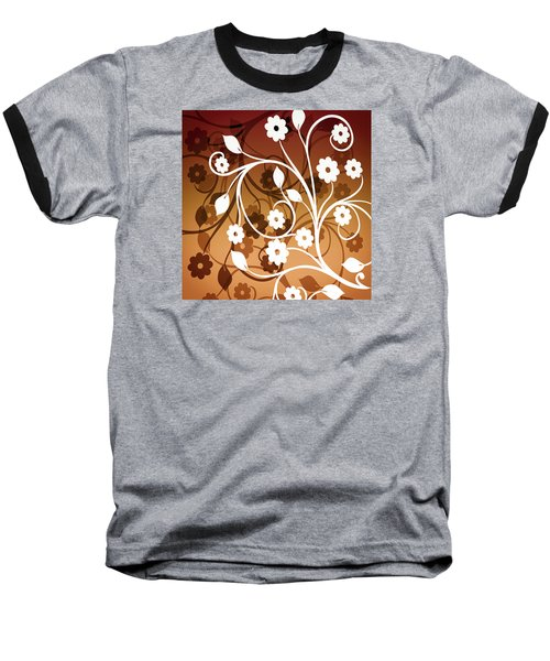 Baseball T-Shirt featuring the digital art Ornamental 2 Warm by Angelina Vick