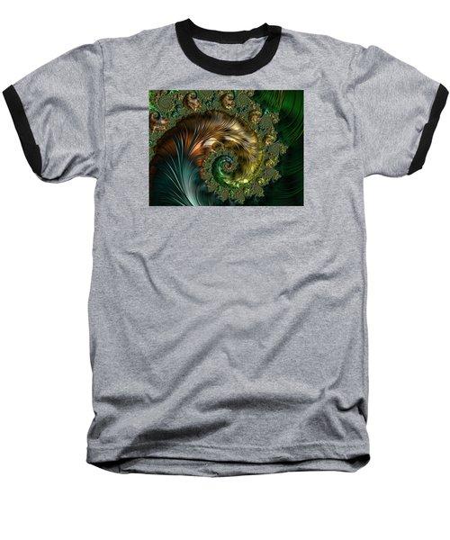 Ornamental Shell Abstract Baseball T-Shirt