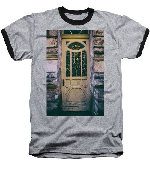 Ornamented Doors In Light Brown Color Baseball T-Shirt by Jaroslaw Blaminsky