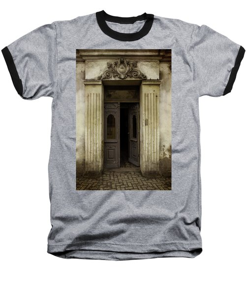 Ornamented Gate In Dark Brown Color Baseball T-Shirt by Jaroslaw Blaminsky