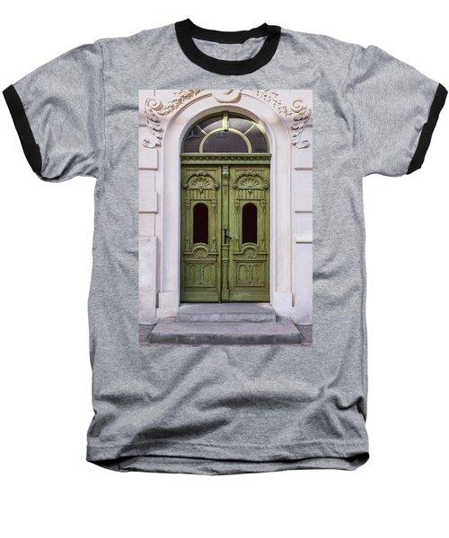 Ornamented Gates In Olive Colors Baseball T-Shirt by Jaroslaw Blaminsky