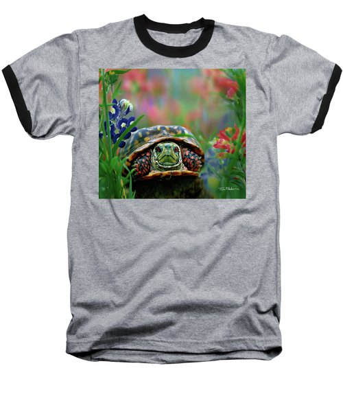 Ornate Box Turtle Baseball T-Shirt