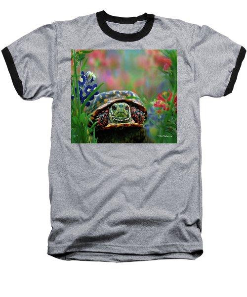 Ornate Box Turtle Baseball T-Shirt