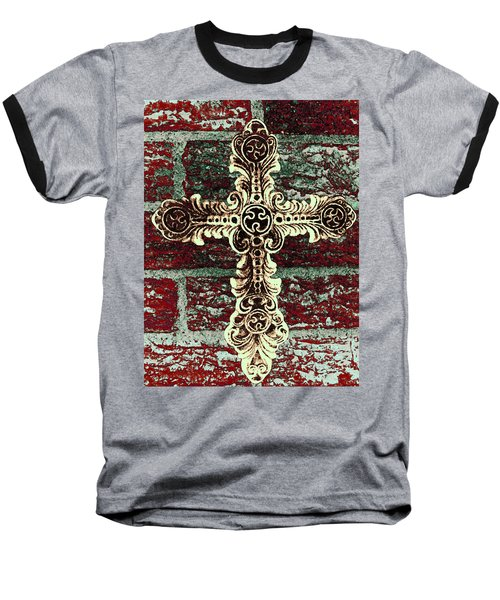 Ornate Cross 1 Baseball T-Shirt