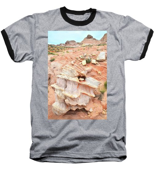 Baseball T-Shirt featuring the photograph Ornate Rock In Wash 4 Of Valley Of Fire by Ray Mathis