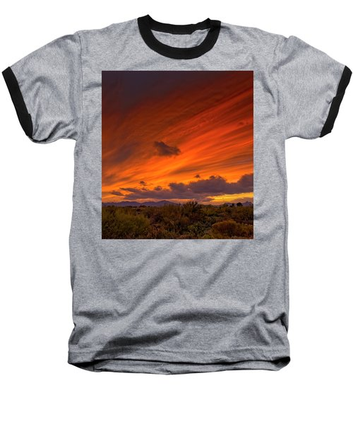 Baseball T-Shirt featuring the photograph Oro Valley Sunset H6 by Mark Myhaver