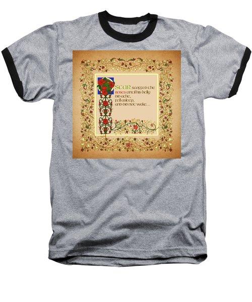 Oscar Alternative Ending Baseball T-Shirt by Donna Huntriss